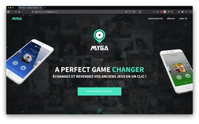 Site pour l'application mobile Myga